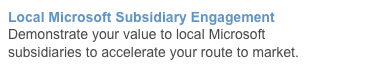 Local Microsoft Subsidiary Engagement